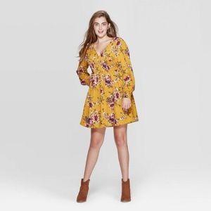 Xhilaration Floral Smocked Waist Mini Dress
